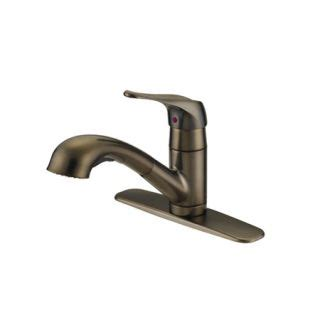 Proflo Kitchen Faucet Proflo Pfxc6011rb Rubbed Bronze Kitchen Faucet With Metal Lever Handle And Pullout Spray