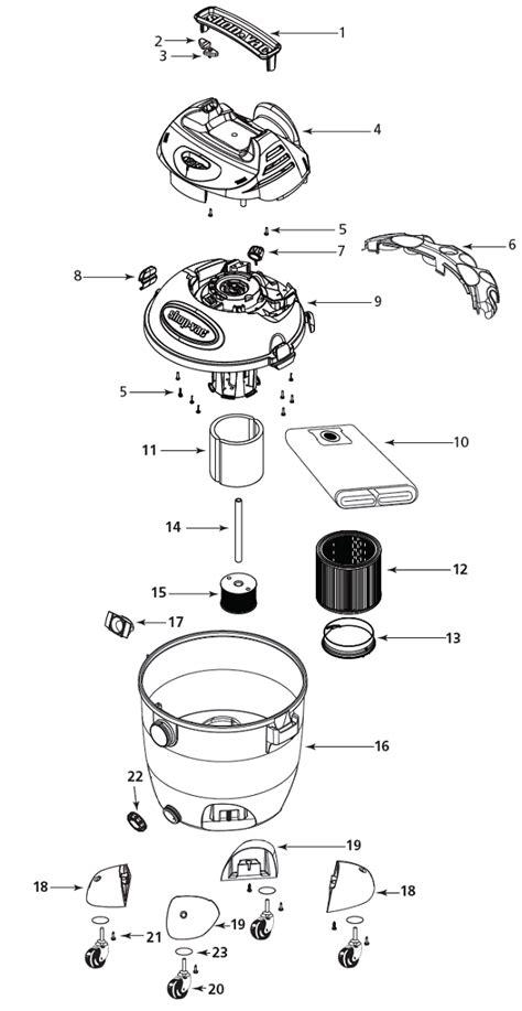 shop vac 16ltp550a vacuum parts repair schematics
