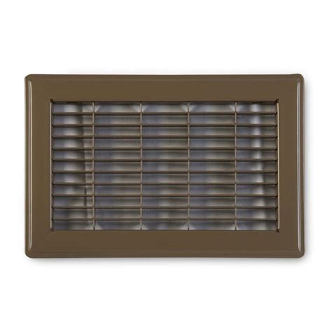 Floor Grilles by Shop Accord Ventilation 120 Series Brown Steel Louvered