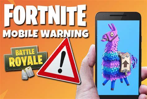 fortnite up fortnite mobile warning epic caution against sign
