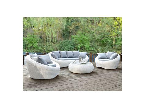 salon jardin whiteheaven r 233 sine tress 233 e blanc 3 1 1 table