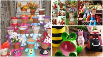 How to make clay pot flower people gardening