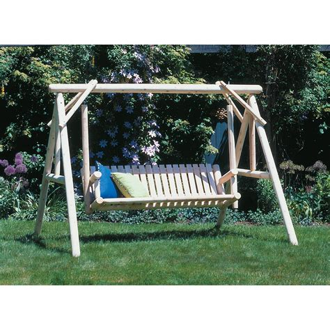rustic garden swing rustic natural cedar furniture company 174 cedar log 6
