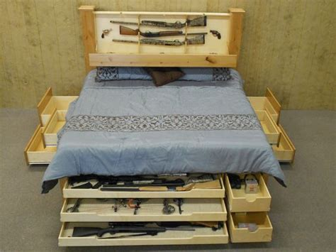 king size headboard with hidden storage king size beds hidden gun storage and storage on pinterest