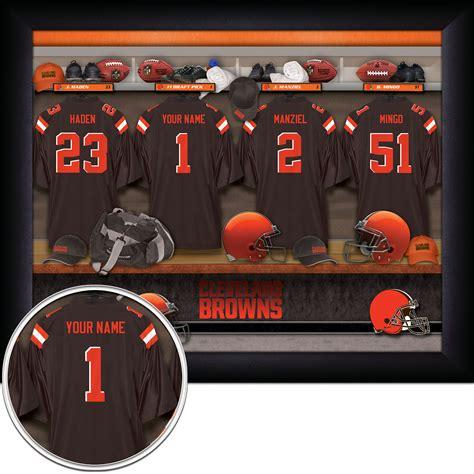cleveland browns locker room cleveland browns nfl personalized locker room 11 x 14 framed photograph