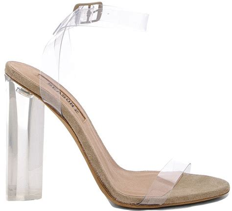 acrylic sandals january jones with toe overhang in kanye s clear perspex