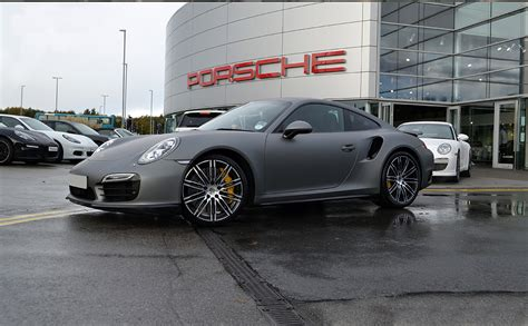 porsche matte porsche 911 wrapped in matte grey reforma uk
