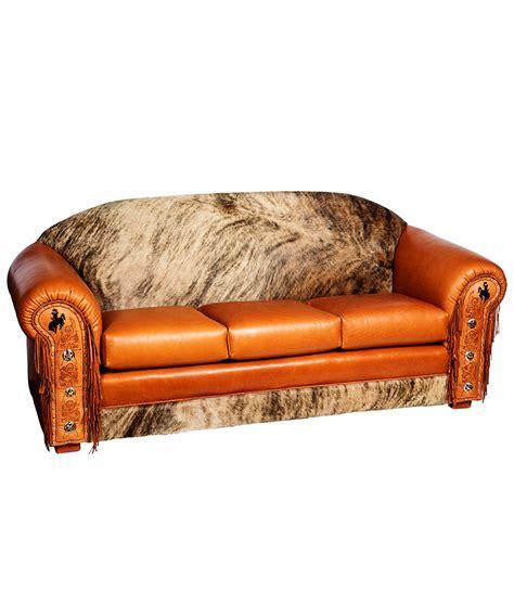 western tooled leather sofa western furniture cowhide sofa