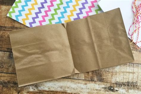How To Make A Paper Bag Book - how to make a paper bag book for