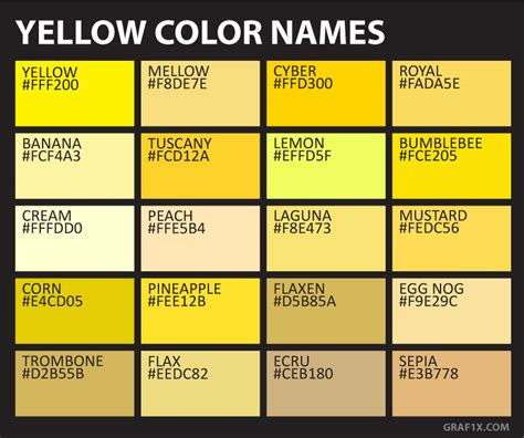 gold color names yellow color names graf1x