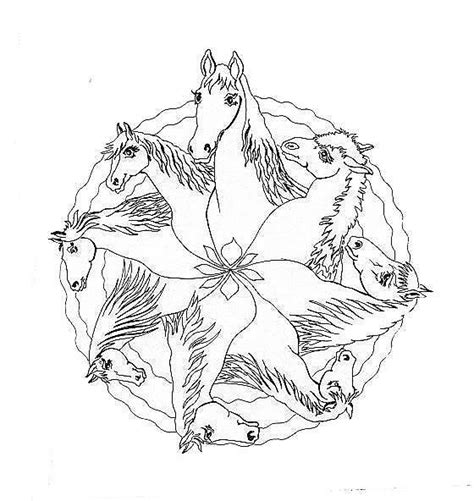 mandala coloring pages horse pages coloring mandala adult horses coloring pages