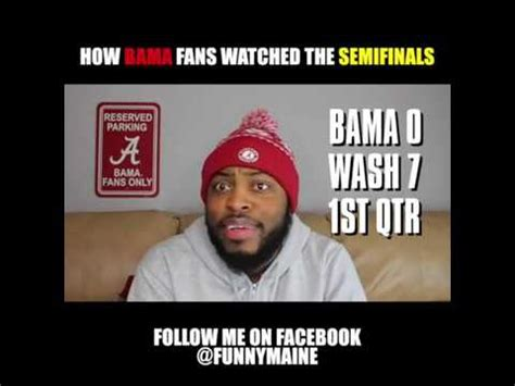 how alabama fans watched how bama fans watched the semifinals youtube