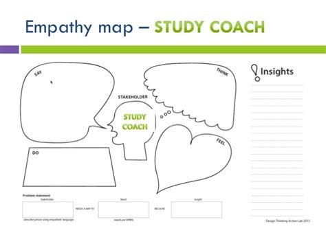 design thinking coach stanford design thinking empathy map study coach