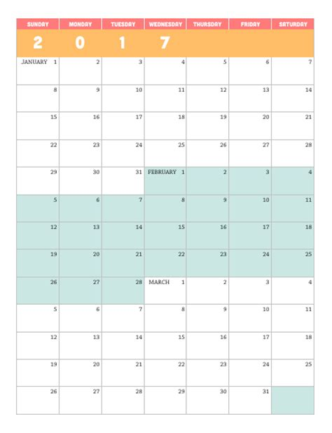 quarter calendar template printable 2017 quarterly calendar lara willard