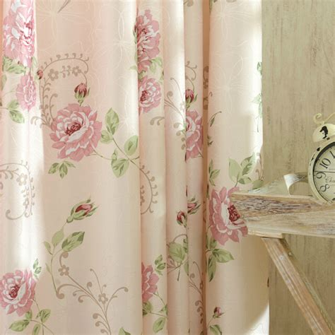 floral shabby chic curtains romantic pink floral poly cotton shabby chic curtains
