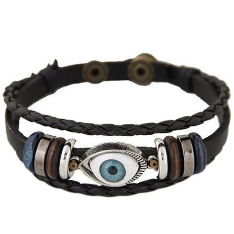Eye Pendant Bracelet eye pendant design multi layer weaving leather fashion