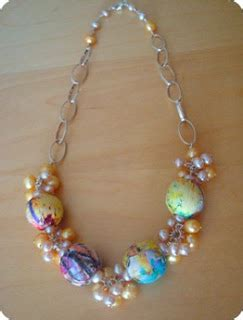 decoupage beads tutorial all in a row necklace focal inspirations and tutorials
