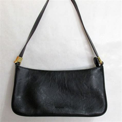Handmade Leather Bags Nyc - mondani new york classic black handbag purse faux leather