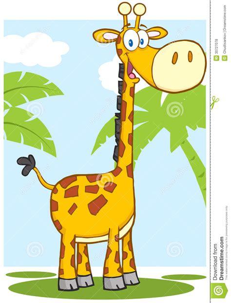 imagenes de amor de jirafas animadas personaje de dibujos animados feliz de la jirafa con el
