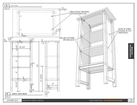 layout sketchup pdf model a no 72 gustav stickley bookcase with sketchup