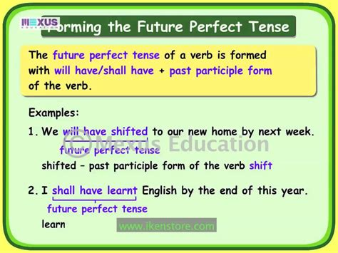 pattern of future perfect tense search results for verbs in future calendar 2015