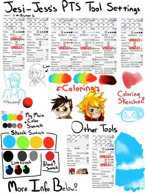 paint tool sai picture quality paint tool sai tools and swatches v2 by jesi jess on