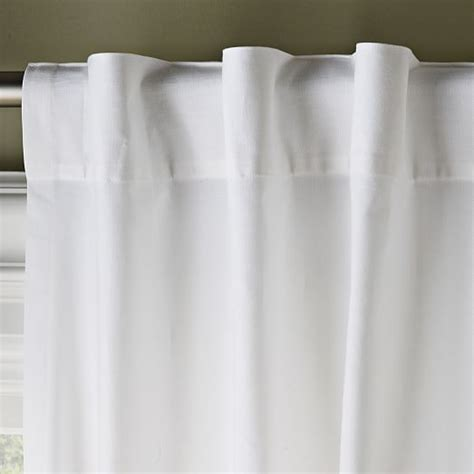 cotton curtains cotton canvas curtain white west elm