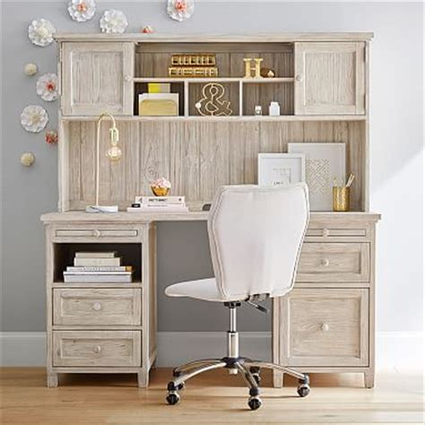 white beadboard desk beadboard smart desk hutch pbteen