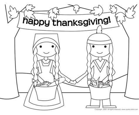 coloring pages pilgrims and indians