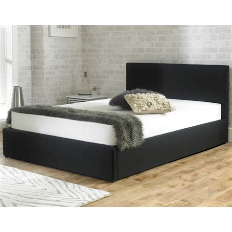 fabric ottoman storage bed sale stirling 4ft6 double black fabric ottoman storage bed