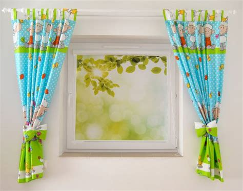 cer curtain tabs luxury baby kids children s junior nursery curtains bow