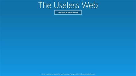 The Useless Web for Windows 8 and 8.1 Useless Websites Game