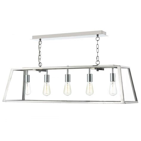 chrome pendant light fitting light fitting for table and islands chrome linear