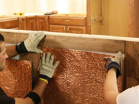 copper wall how to install copper wainscoting how tos diy