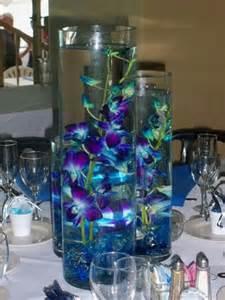 blue wedding centerpiece purple blue orchids centerpiece wedding centerpieces
