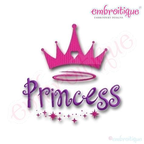 Crown Baby Machine 4in1 embroitique princess crown embroidery design