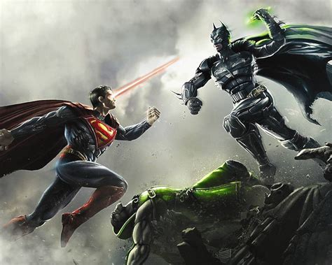 4 x superman vs batman in what world can batman hang with superman in a fight