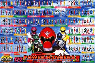 Powers In Order 35th Anniversary Power Rangers The Power Rangers Photo