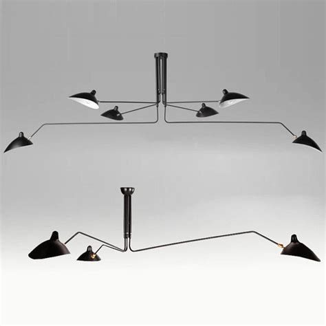 Serge Mouille Three Arm Ceiling L by Nordic Ceiling L 3 Arm 6 Arm Serge Mouille Ceiling Lights Duckbill Replica Rotating Dining