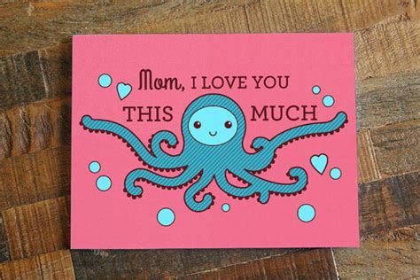 cute mothers day cards funny mothers day card cute card for mom octopus art funny