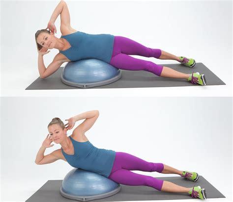bosu side crunch obliques exercises popsugar fitness photo 7