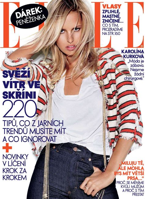 Is Elles September 2008 Cover by Covers Of With Karolina Kurkova 000 2008