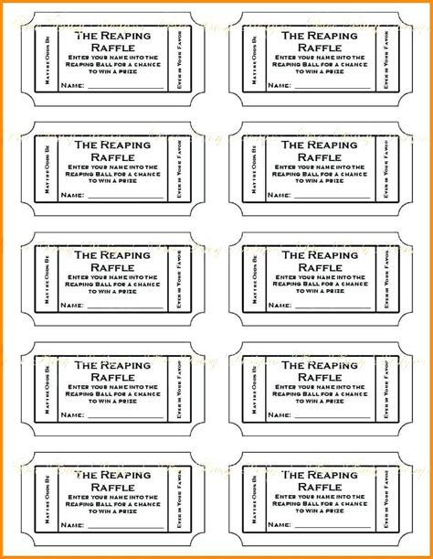 free printable ticket templates for mac 11 printable raffle tickets template actor resumed
