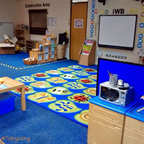 classroom layout early years view of the carpet ipad table and construction area aug