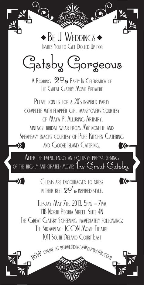 great gatsby invitation template great gatsby invitation template great gatsby
