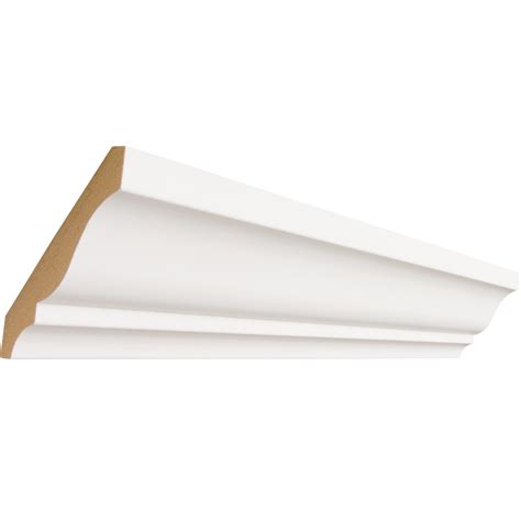 Ceiling Molding Lowes by Shop 3 625 In X 8 Ft Primed Mdf Crown Moulding At Lowes