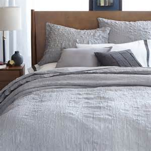 Grey Duvet Cover Crinkle Duvet Cover Pillowcases West Elm Uk