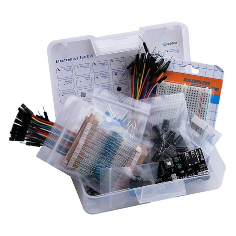 diy led capacitor electronic diy kit bundle with breadboard cable resistor capacitor led potentiometer 235