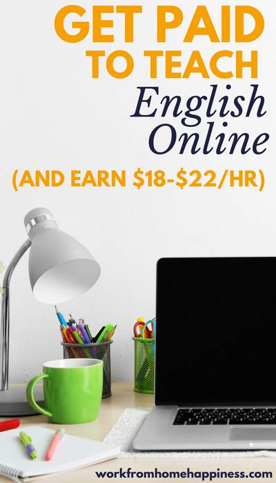 Work From Home Teaching English Online - get paid to teach english online and earn 18 22 an hour work from home happiness