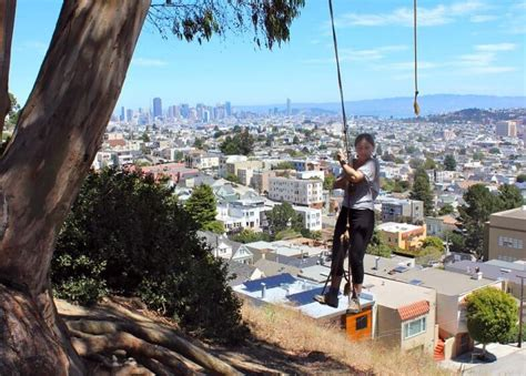 rope swing san francisco san francisco playground for adults sfbay san
